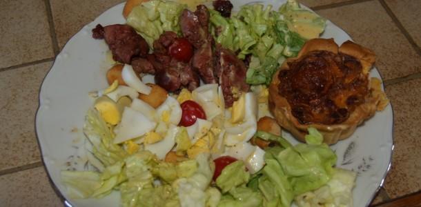 Recette Salade tiède de foies de volaille