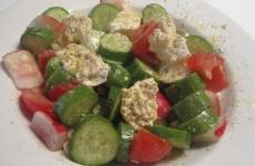 Recette Salade de concombre au fromage blanc