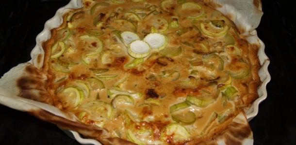 Recette Tarte aux courgettes et au parmesan