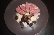 Recette Magret de canard champignons